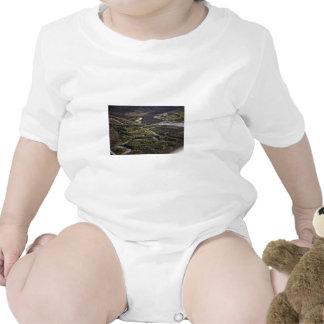 Dalton Highway crossing Bonanza Creek Baby Bodysuits