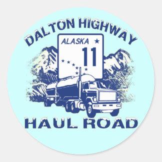DALTON HIGHWAY HAUL ROAD CLASSIC ROUND STICKER