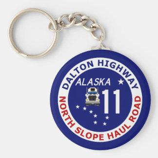 Dalton Highway, North Slope Haul Road Keychain