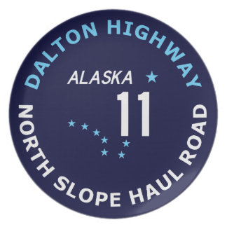 Dalton Highway, North Slope Haul Road Melamine Plate