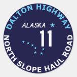 Dalton Highway, North Slope Haul Road Classic Round Sticker