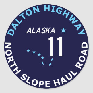 Dalton Highway, North Slope Haul Road Round Sticker