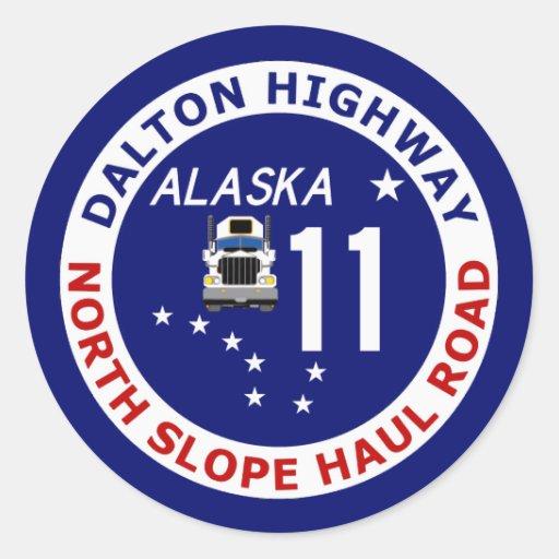 Dalton Highway, North Slope Haul Road Round Stickers