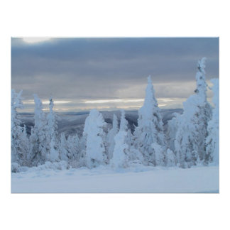 Dalton Highway snow in early winter Poster