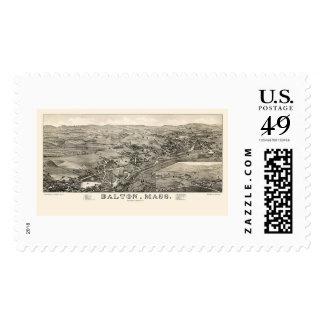 Dalton, MA Panoramic Map - 1884 Postage Stamps