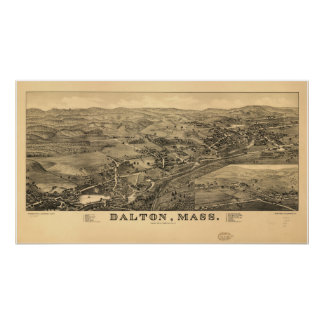 Dalton Massachusetts 1884 Antique Panoramic Map Poster
