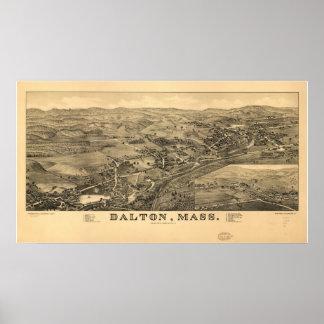 Dalton Massachusetts 1884 Antique Panoramic Map Posters