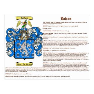 Dalton (meaning(english)) postcard