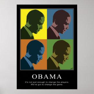 """Daltónico"" Obama Póster"