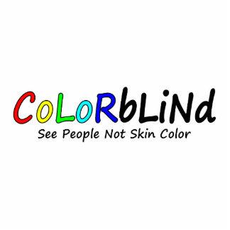 Daltónico vea el color de piel de la gente no esculturas fotográficas