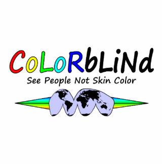 Daltónico vea el color de piel de la gente no escultura fotografica