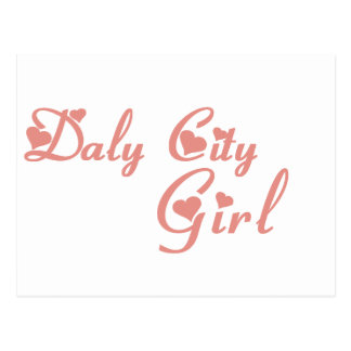 Daly City Girl tee shirts Post Cards