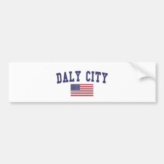 Daly City US Flag Bumper Sticker