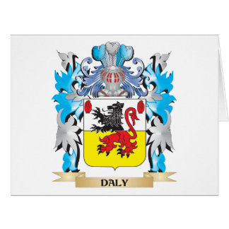 Daly Coat of Arms - Family Crest Large Greeting Card