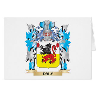 Daly Coat of Arms - Family Crest Stationery Note Card