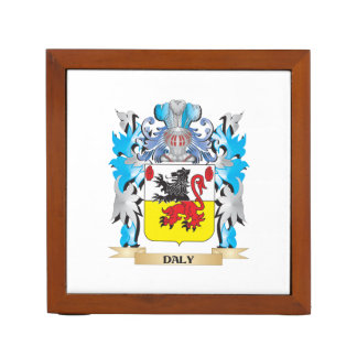 Daly Coat of Arms - Family Crest Desk Organizers