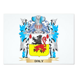 Daly Coat of Arms - Family Crest 5x7 Paper Invitation Card