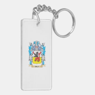 Daly Coat of Arms - Family Crest Double-Sided Rectangular Acrylic Keychain