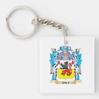 Daly Coat of Arms - Family Crest Single-Sided Square Acrylic Keychain