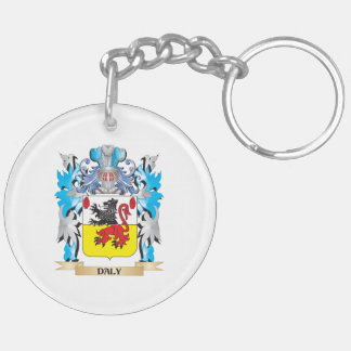 Daly Coat of Arms - Family Crest Double-Sided Round Acrylic Keychain