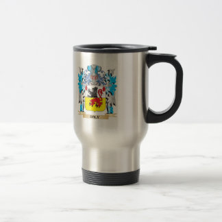 Daly Coat of Arms - Family Crest 15 Oz Stainless Steel Travel Mug