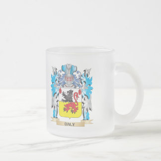 Daly Coat of Arms - Family Crest 10 Oz Frosted Glass Coffee Mug