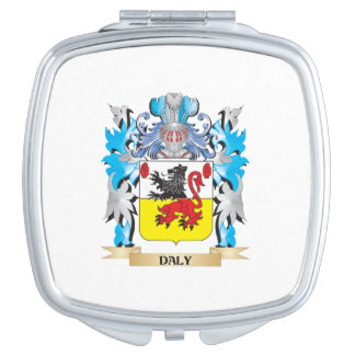 Daly Coat of Arms - Family Crest Travel Mirror