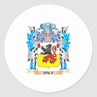 Daly Coat of Arms - Family Crest Classic Round Sticker