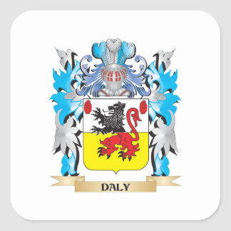 Daly Coat of Arms - Family Crest Square Sticker