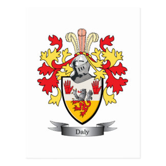 Daly Coat of Arms Postcard