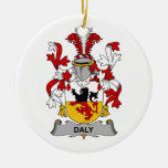 Daly Family Crest Christmas Ornament