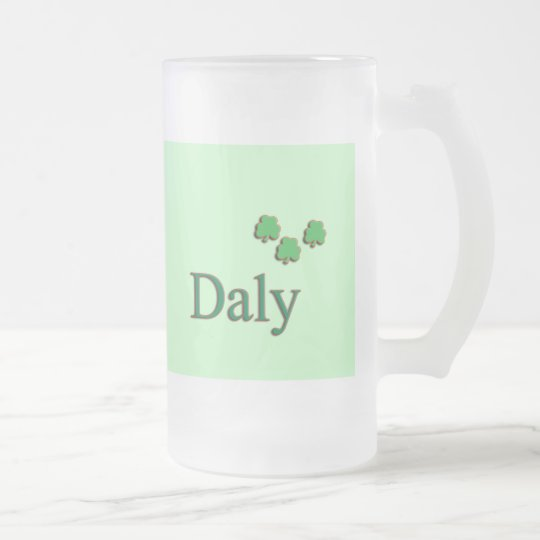 Daly Family Frosted Glass Beer Mug