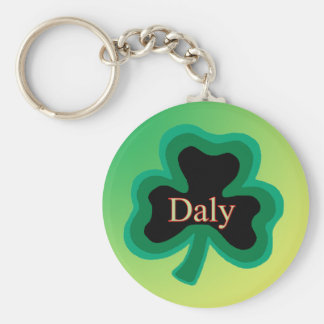 Daly Family Basic Round Button Keychain