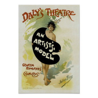 Daly's Theatre ~ An Artist's Model Poster