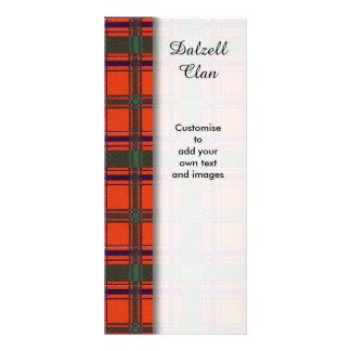 Dalzell clan Plaid Scottish tartan Rack Card