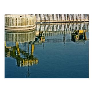 Dam Reflections! (2) Postcard