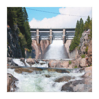 Dam Water Release Gallery Wrapped Canvas