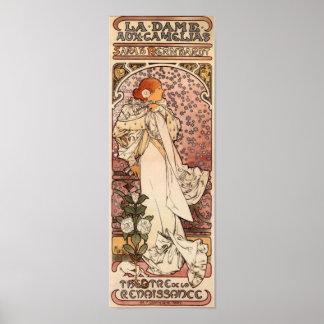 Dama Aux Camelias del La Póster