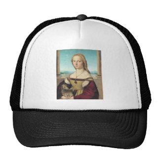 dama col liocorno by Raffaello Sanzio da Urbino Trucker Hat