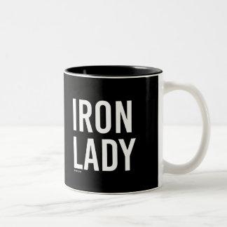 Dama de hierro -   aptitud del entrenamiento - taza de café de dos colores