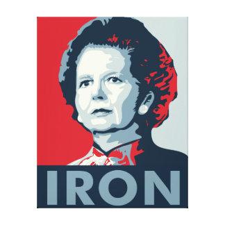 Dama de hierro impresión en lona estirada