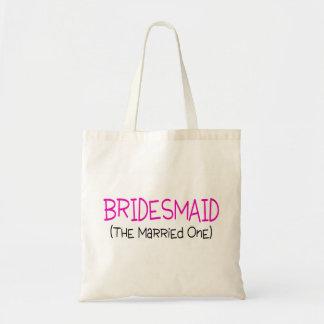 Dama de honor casada bolsa tela barata