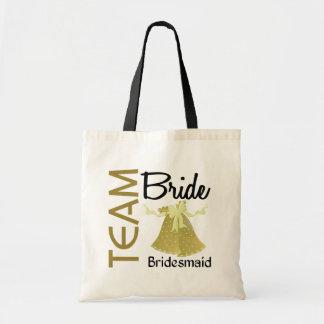 Dama de honor de la novia 2 del equipo bolsas lienzo