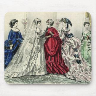 Dama de honor de la novia del boda del Victorian Alfombrillas De Ratones