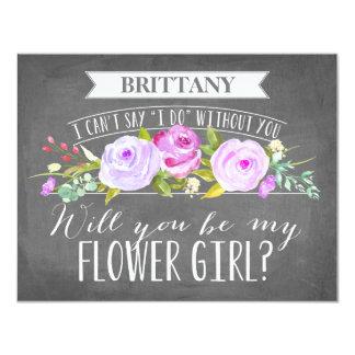 """Dama de honor de la tarjeta el   del florista invitación 4.25"""" x 5.5"""""""