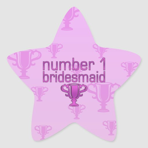 Dama de honor del número 1 pegatinas forma de estrellaes