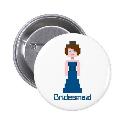 Dama de honor del pixel - marina de guerra pin