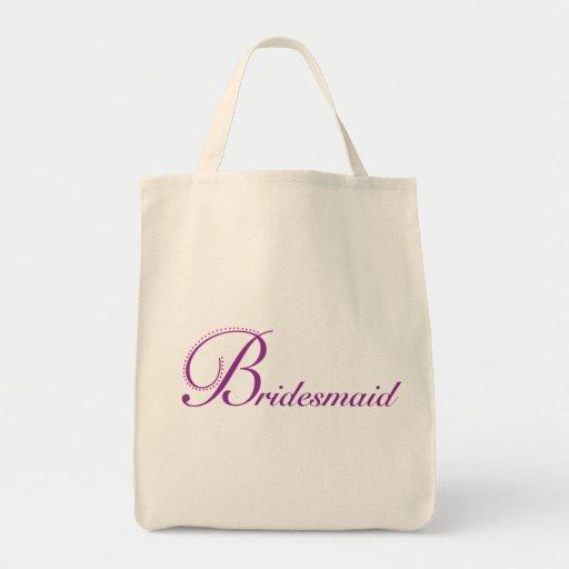 Dama de honor delicada bolsa tela para la compra