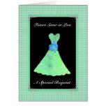 Dama de honor futura de la cuñada - vestido de la tarjeta