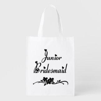 Dama de honor menor clásica bolsas para la compra